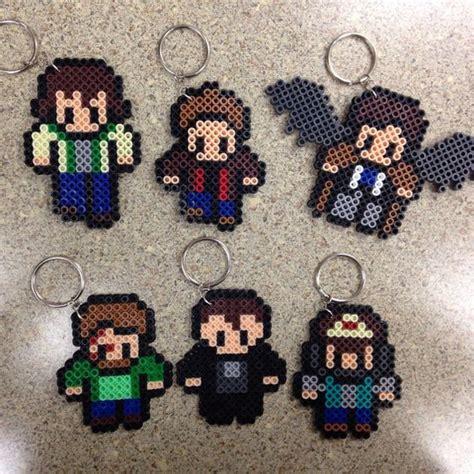 supernatural perler supernatural keychains perler sam dean by