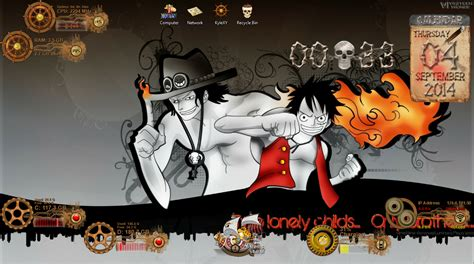 theme windows 10 one piece one piece windows theme and rainmeter skin geektutorial