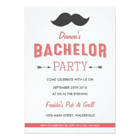 bachelor invitation templates mustache bachelor invitation card ladyprints
