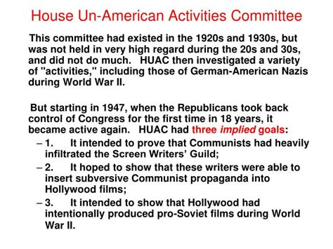 what did the house un american activities committee do ppt the freedom train 1948 powerpoint presentation id 3523138