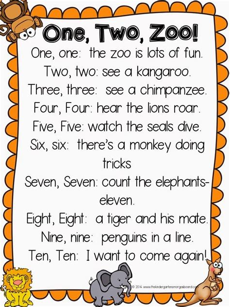 Kaos You Were It Well 16 Cr Oceanseven one two zoo a poem for your zoo unit also great for reading number words top