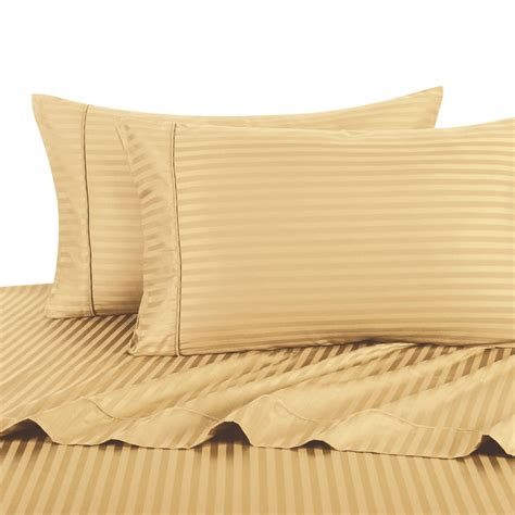 sheets for split king adjustable bed split king adjustable king bed sheet 5pc stripe gold 100