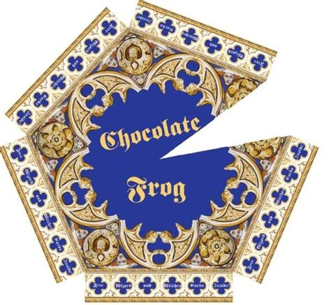 Chocolate Frog Box Template With Cards by Chocolate Frog Box Artwork The Links Don T Work Harry