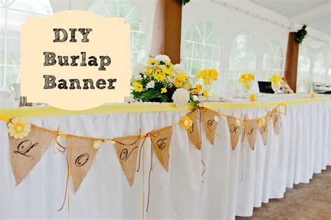 Wedding Banners Diy by A Burlap Wedding Banner Debbiedoo S