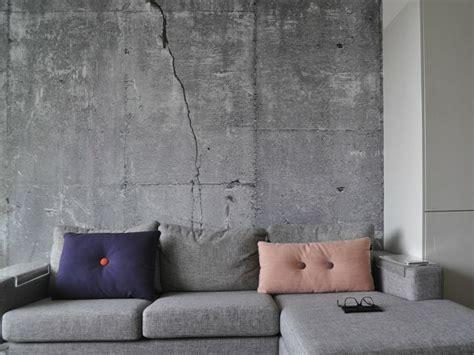 Tapete Beton Wohnzimmer by Die Betonwand Ein Richtiger Hingucker In Jedem Ambiente