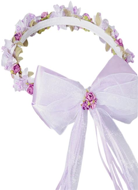 Flower Crown Handmade - lilac floral crown wreath handmade with silk flowers