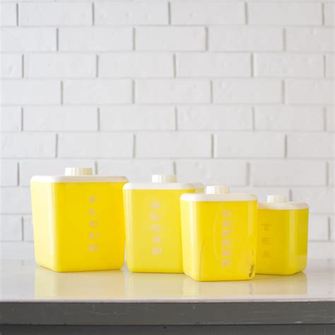 yellow kitchen canisters retro yellow kitchen canisters yellow lustro ware by kolorize