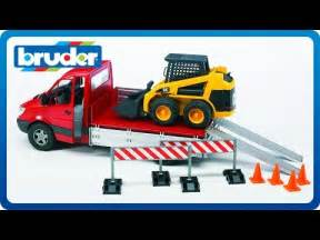 Up Truck Accessories Miami Bruder Toys Mb Up Truck W Cat Skid Steer Loader