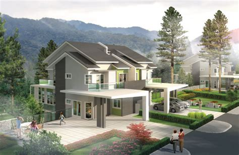 two storey semi detached house plans oriental lily 2 1 2 storey semi detached house type a langit saujana sdn bhd