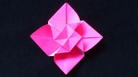 cara membuat bunga memakai kertas origami cara membuat origami bunga mawar berputar origami bunga