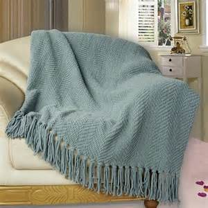 bnf home knitted tweed throw cover sofa blanket