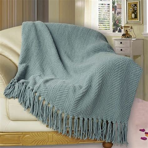 throw blanket on sofa bnf home knitted tweed throw couch cover sofa blanket