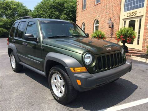 2006 green jeep liberty sell used 2006 jeep liberty crd turbo diesel sport 1