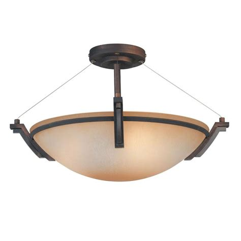 home depot flush mount light filament design yeats 3 light oil rubbed bronze semi flush