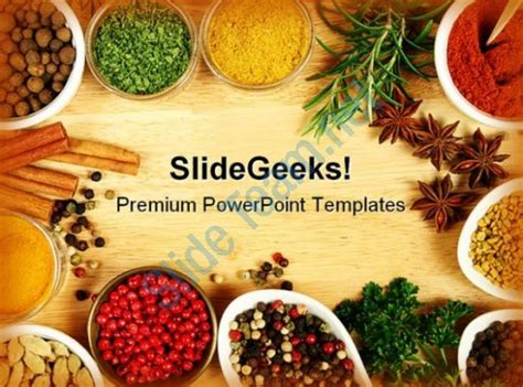 Spices Food Powerpoint Templates And Powerpoint Backgrounds 0311 Powerpoint Slides Diagrams Food Powerpoint Templates