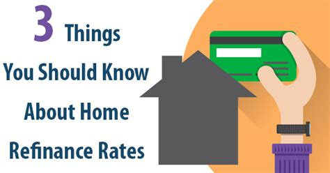3 things you should about home refinance rates