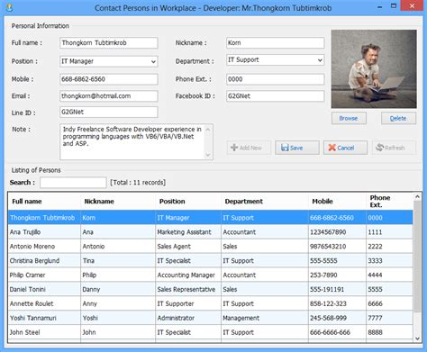 vb net contact persons crud vb net access