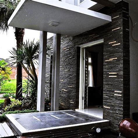 Batu Alam Gambar Beruang gambar batu alam hitam untuk dinding depan rumah dan inilah contoh desain rumah minimalis dengan
