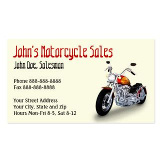 motorcycle business cards templates free motorcycle business cards templates zazzle