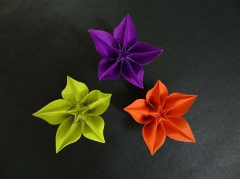 Carambola Flowers Origami - origami flower tutorial how to fold origami carambola
