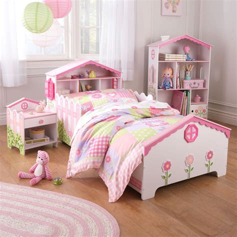 toddler bed girls kidkraft dollhouse toddler bed 76254 at hayneedle