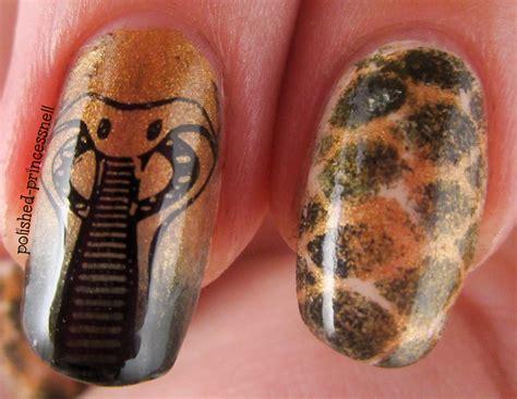 snake pattern nails polished princessnell snakeskin nail art