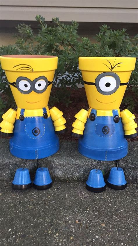 minion craft projects minion terra cotta pots how to make minions out of