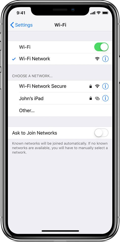 iphone not connecting to wifi connect to wi fi on your iphone or ipod touch apple support