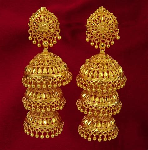 jhumka design images indian style gold jhumka earrings design for women indian