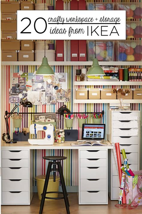 storage ideas 20 crafty workspace storage ideas from ikea babble