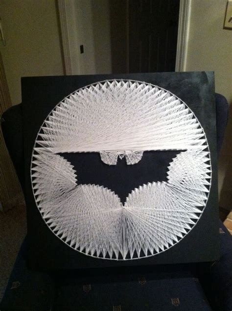 String Batman - batman symbol string crafts kevin o