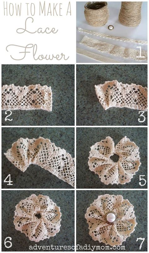 Flowers Lace diy lace flower pictures photos and images for