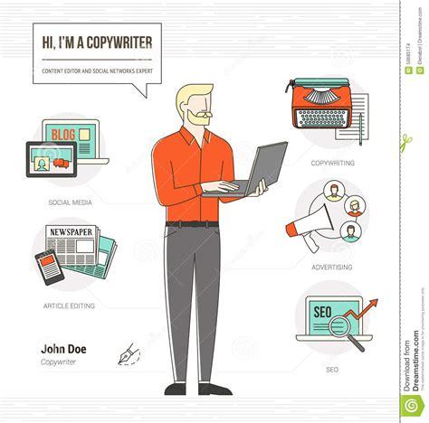 professional copywriter stock vector image 59685174