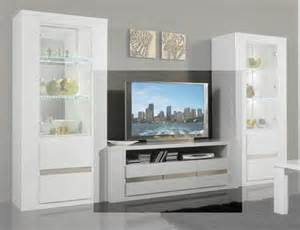 meuble tele blanc meuble tv plasma tania laque blanc blanc metal