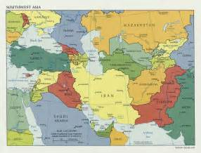 Southwestern Asia Map by Ray Holly 6 2 History Unit Resources Maps Tutorials