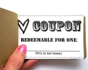 coupon book etsy