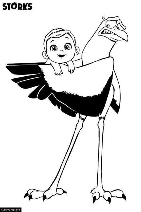 coloring page for the movie storks ecoloringpage com
