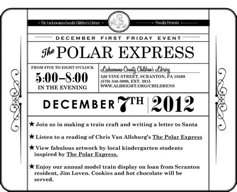 express template free polar express coloring pages