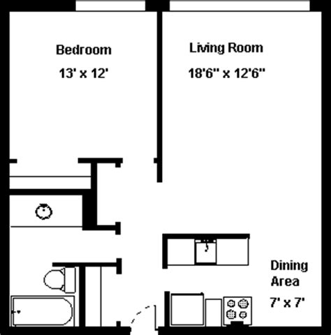 floor plan of a bachelor flat eastry house