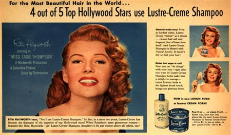 best hair ads vintage beauty and hygiene ads of the 1950s page 22