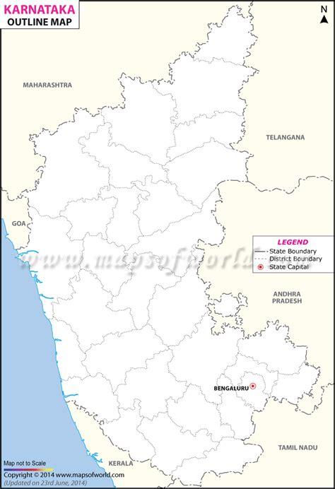 Karnataka Outline Map by Pin Karnataka Map Showing Bagalkot District In Colored On