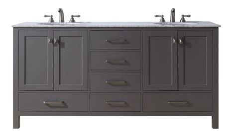 stufurhome   malibu grey double sink bathroom vanity