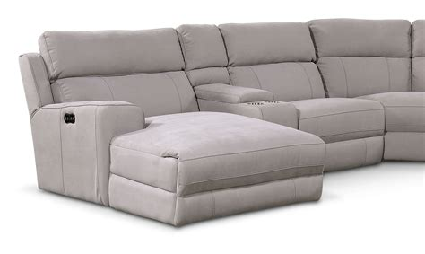 reclining sofa with left chaise newport 6 power reclining sectional with left facing