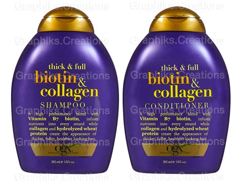 Conditioner Ogx Thick Biotin And Collagen organix ogx thick biotin collagen shoo conditioner 13 oz each ebay