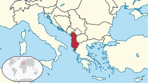 Albania Search File Albania In Its Region Svg Wikimedia Commons