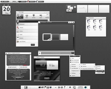kali linux kde themes image gallery e17 screenshots