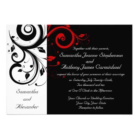 wedding invitation wording black white and wedding