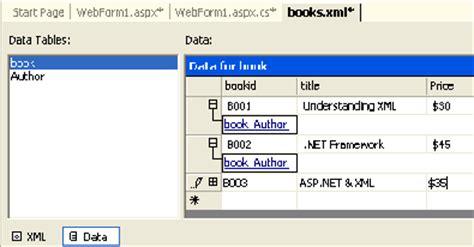 xml tutorial in asp net using xml in asp net