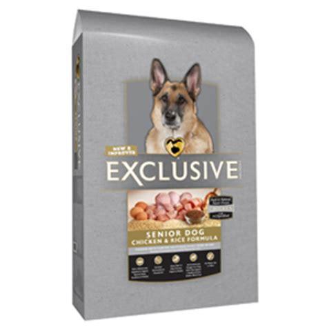 exclusive puppy food senior food