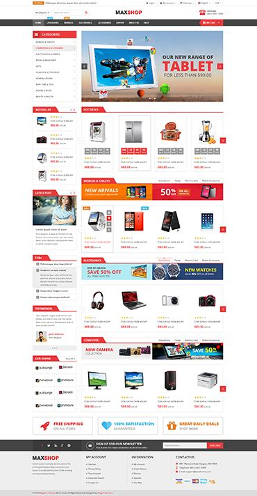 Sw Maxshop Responsive Wordpress Multipurpose Theme Best Ecommerce Template